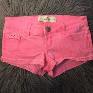 Hollister Barbie Pink Booty Shorts 0/24